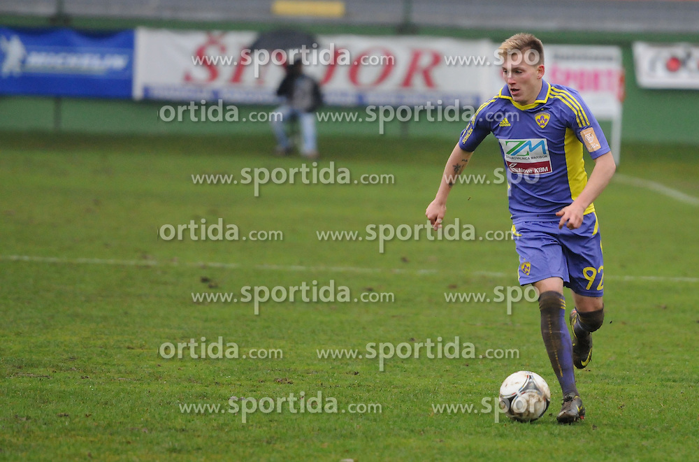 Matic Crnic #92 of Maribor during football match between ND Mura 05 and NK Maribor in 21th Round of Slovenian First League PrvaLiga NZS 2012/13 on December 2, 2012 in Murska Sobota, Slovenia. (Photo By Ales Cipot / Sportida)