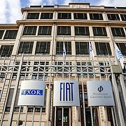 La sede legale di Fiat Spa nella storica palazzina del Lingotto di Torino. The Headquarter of Fiat Spa in the historic Lingotto building in Turin.