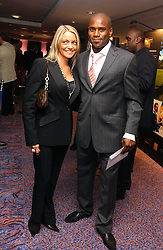Footballer FRANK SINCLAIR  and NICKY WEALLEANS at a sales event for the exclusive Chelsea Bridge Wharf in aid of CLIC Sargeant cancer charity held at Stamford Bridge football stadium, Chelsea, London on 7th February 2006.<br />