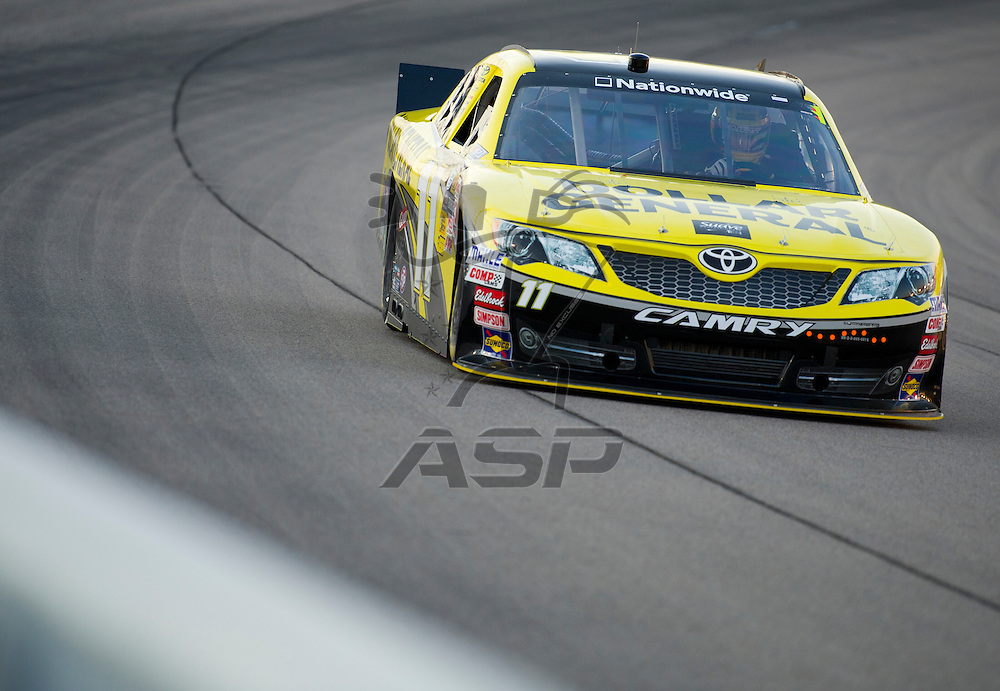 NEWTON, IA - July 03, 2012: Brian Scott (11) during the final practice for the U.S. Cellular 250 race at Iowa Speedway in Newton, IA.