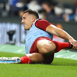LONDON, ENGLAND - SEPTEMBER 18: Sam Burgess of England during the Rugby World Cup 2015 Pool A match between England and Fiji at Twickenham Stadium on September 18, 2015 in London, England. (Photo by Steve Haag Emirates)