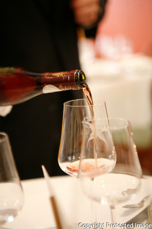 pouring rose