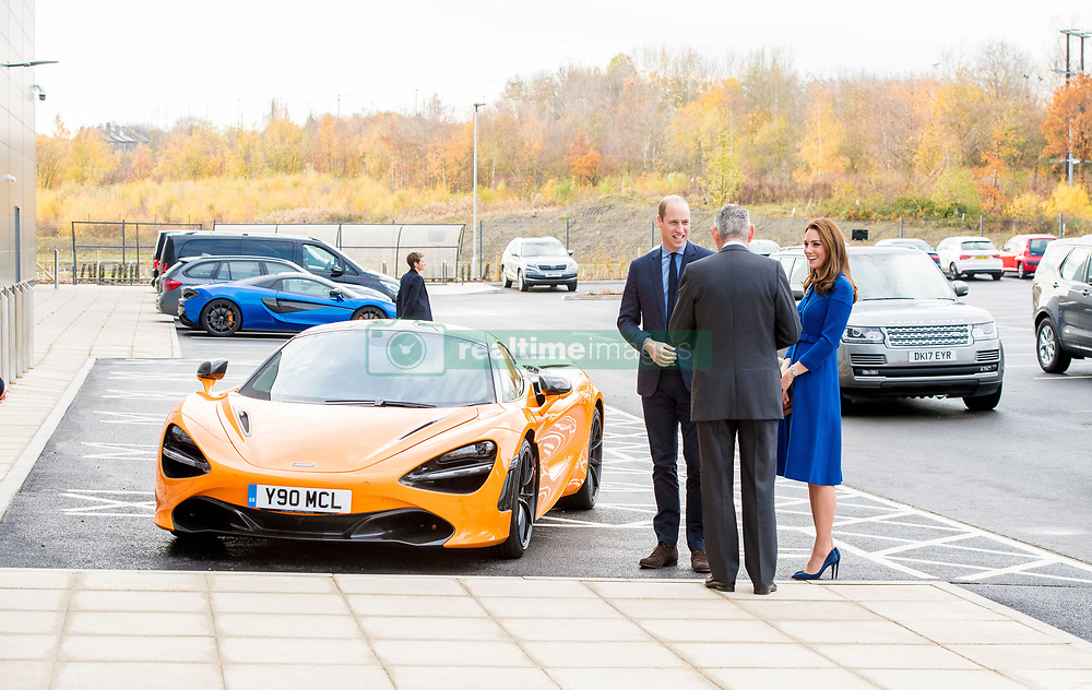 Prince William and Catherine Duchess of Cambridge (Kate Middleton) at the official opening of the new Composites Technology Center at McLaren Automotive in Rotherham, South Yorkshire. UK. 14 Nov 2018 Pictured: Prince William and Catherine Duchess of Cambridge (Kate Middleton) at the official opening of the new Composites Technology Center at McLaren Automotive in Rotherham, South Yorkshire. UK. Photo credit: MEGA TheMegaAgency.com +1 888 505 6342
