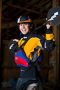 Portraits of Junior world champion freestyle kayaker Jason Craig of Reno at 16.