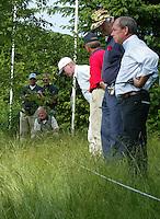 LEUSDEN - Referee tijdens  Stern Open 2003 op de Hoge Kleij. COPYRIGHT KOEN SUYK