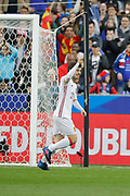 David Silva scored a penalty and celebrated it during the Friendly Game football match between France and Spain on March 28, 2017 at Stade de France in Saint-Denis, France - Photo Stephane Allaman / ProSportsImages / DPPI