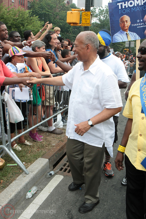 2 September 2013- Brooklyn, NY: New York City Mayoral Candidate Bill Thompson attends the 46th Annual West Indian Day Parade held along Eastern Parkway held on September 2, 2013 in Brooklyn, NY  ©Terrence Jennings