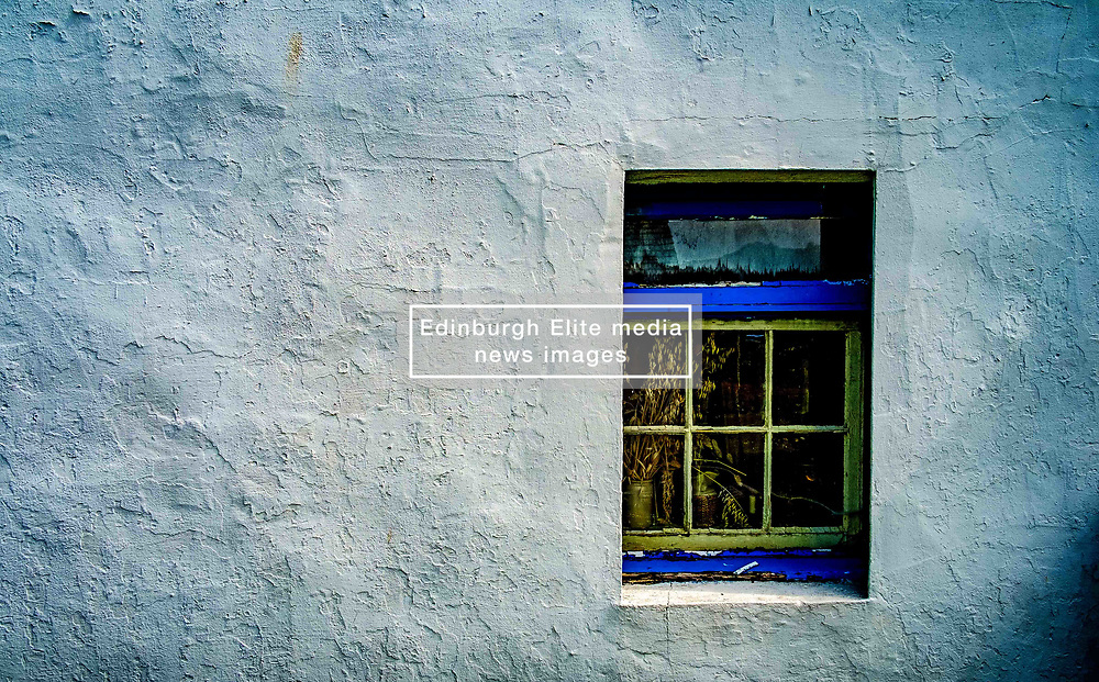 Easdale Island, the smallest permanently-inhabited island of the Inner Hebrides, Scotland. A window in the museum.<br /> <br /> (c) Andrew Wilson   Edinburgh Elite media