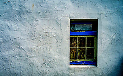 Easdale Island, the smallest permanently-inhabited island of the Inner Hebrides, Scotland. A window in the museum.<br /> <br /> (c) Andrew Wilson | Edinburgh Elite media