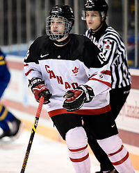 Travis Barron of the Ottawa 67's represented Team Canada White in the 2014 World Under-17 Hockey Challenge in Sarnia and Lambton, ON November 2-8, 2014. Photo by Aaron Bell/CHL Images