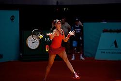 May 5, 2019 - Madrid, Spain - Dayana Yastremska (UKR) in her match against Karolina Pliskova (CZE) during day two of the Mutua Madrid Open at La Caja Magica in Madrid on 5th May, 2019. (Credit Image: © Juan Carlos Lucas/NurPhoto via ZUMA Press)