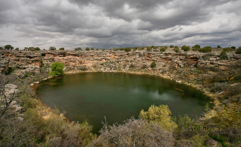 Photo by Gary Cosby Jr.  ..Montezuma's Well, a fresh water, year round source, wells up in the Arizona desert.  The area hosted ancient cliff dwelling indians.