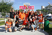 TAMPA, FL - OCTOBER 15:  A group of Cincinnati Bengals fans get fired up for their team outside the stadium before the game against the Tampa Bay Buccaneers at Raymond James Stadium on October 15, 2006 in Tampa, Florida. The Bucs defeated the Bengals 14-13. (©Paul Anthony Spinelli)