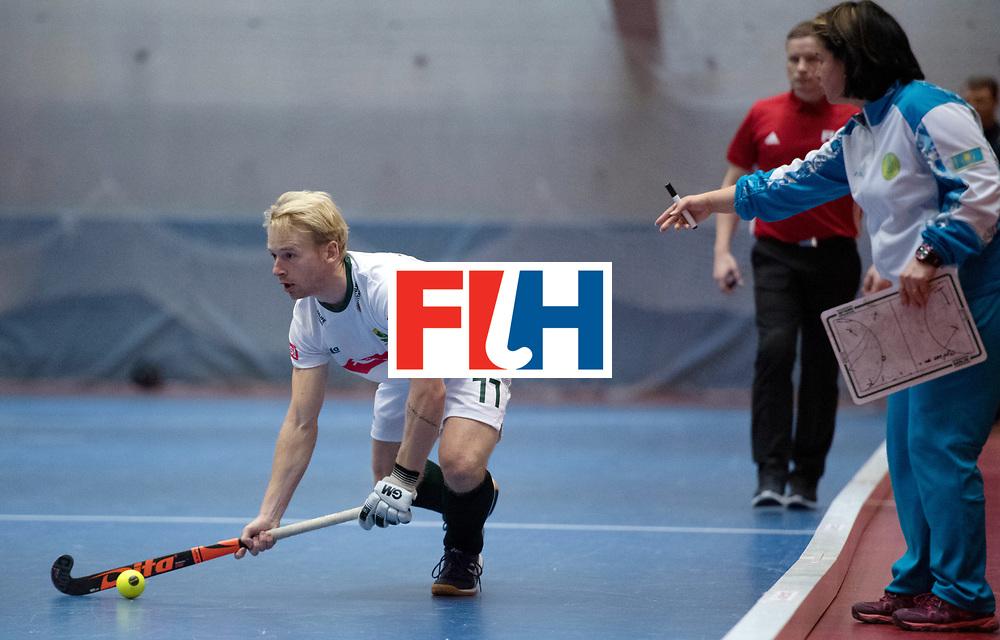 BERLIN - Indoor Hockey World Cup<br /> Kazakhstan - South Africa<br /> foto: Jarryd Jones  <br /> WORLDSPORTPICS COPYRIGHT FRANK UIJLENBROEK