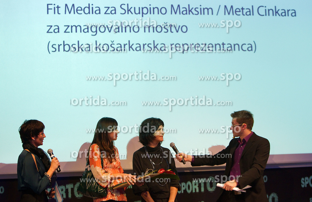 Fit Media for Maksim / Metal Cinkara during Sporto  2010 Gala Dinner and Awards ceremony at Sports marketing and sponsorship conference, on November 29, 2010 in Hotel Slovenija, Portoroz/Portorose, Slovenia. (Photo By Vid Ponikvar / Sportida.com)