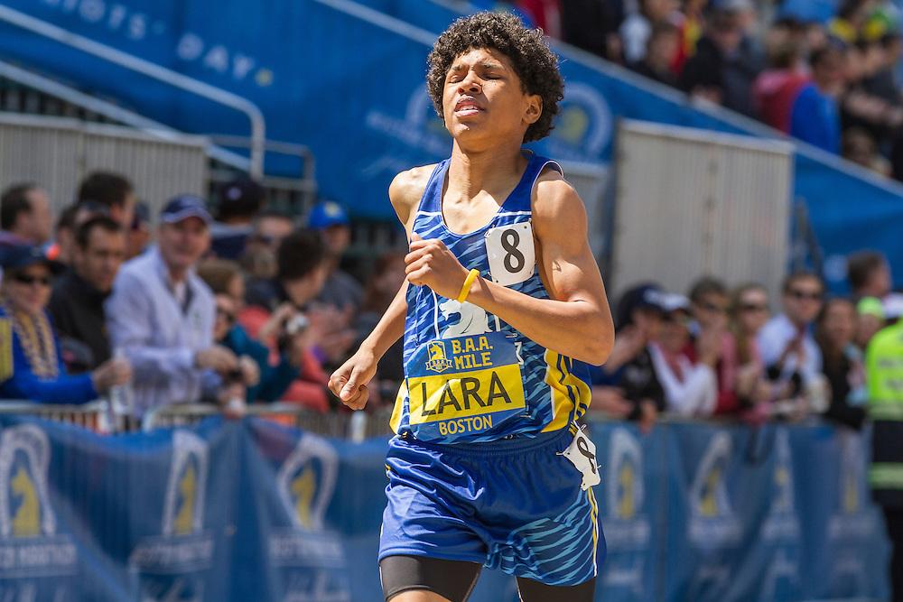 BAA Invitational Road Mile, Middle School 1000m, Joel Lara