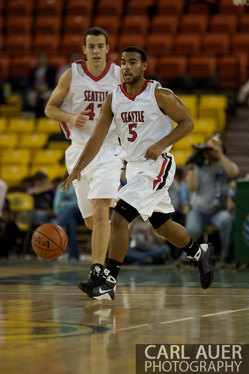 November 29th, 2008:  Anchorage, Alaska - Seattle University's Shaun Burl (5) and teammate Austen Powers (42) in the third place game on the final day of the Great Alaska Shootout.