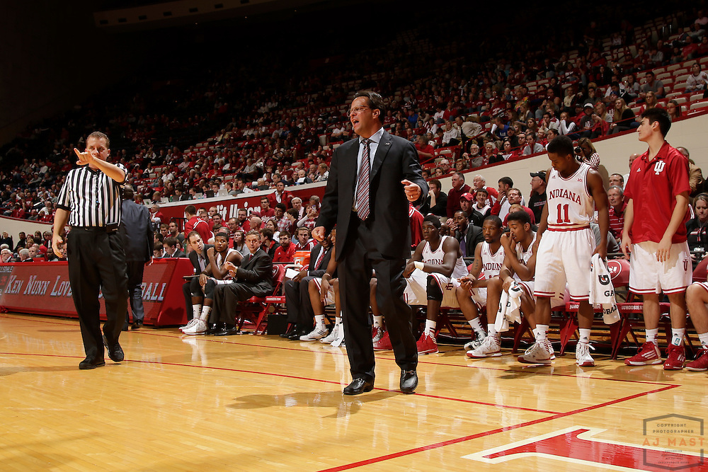 04 November 2013: Indiana head coach Tom Crean as the Indiana Hoosiers played Hillsdale College in a exhibition college basketball game in Bloomington, Ind.