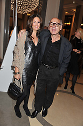 Vanessa Coleiro and Michael Nyman at a dinner hosted by Pablo Ganguli and Ella Krasner to celebrate the 10th Anniversary of Liberatum and in honour of Sir Peter Blake held at The Corinthia Hotel, Nortumberland Avenue, London on 23rd November 2011.