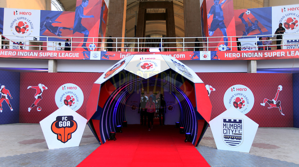 General view before the strt of the match 34 of the Hero Indian Super League between Mumbai City FC and FC Goa held at the D.Y. Patil Stadium, Navi Mumbai, India on the 17th November.<br /> <br /> Photo by:  Sandeep Shetty/ ISL/ SPORTZPICS