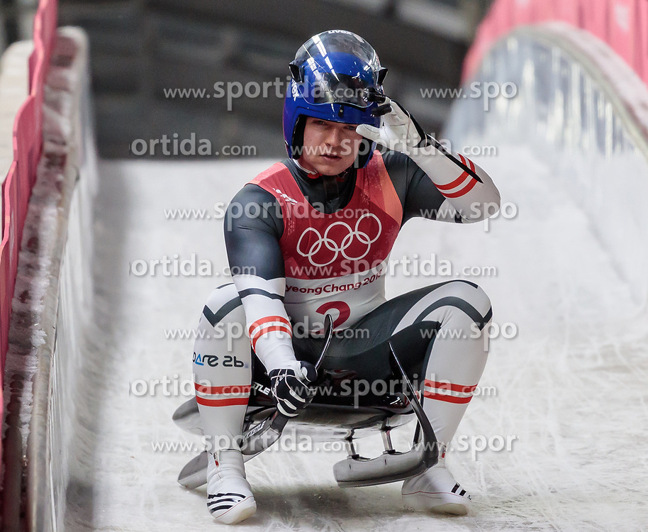 11.02.2018, Olympic Sliding Centre, Pyeongchang, KOR, PyeongChang 2018, Rodeln, Herren, 3. Lauf, im Bild Wolfgang Kindl (AUT) // Wolfgang Kindl of Austria during the Men's Luge Singles Run 3 competition at the Olympic Sliding Centre in Pyeongchang, South Korea on 2018/02/11. EXPA Pictures © 2018, PhotoCredit: EXPA/ Johann Groder