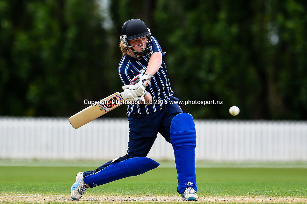 Action from the Tawa College V St Hilda's Collegiate match during the NZCT Secondary School Girls Competition Bert Sutcliffe Oval, Lincoln, New Zealand, 4th December 2016. © Copyright Photo: John Davidson / www.photosport.nz