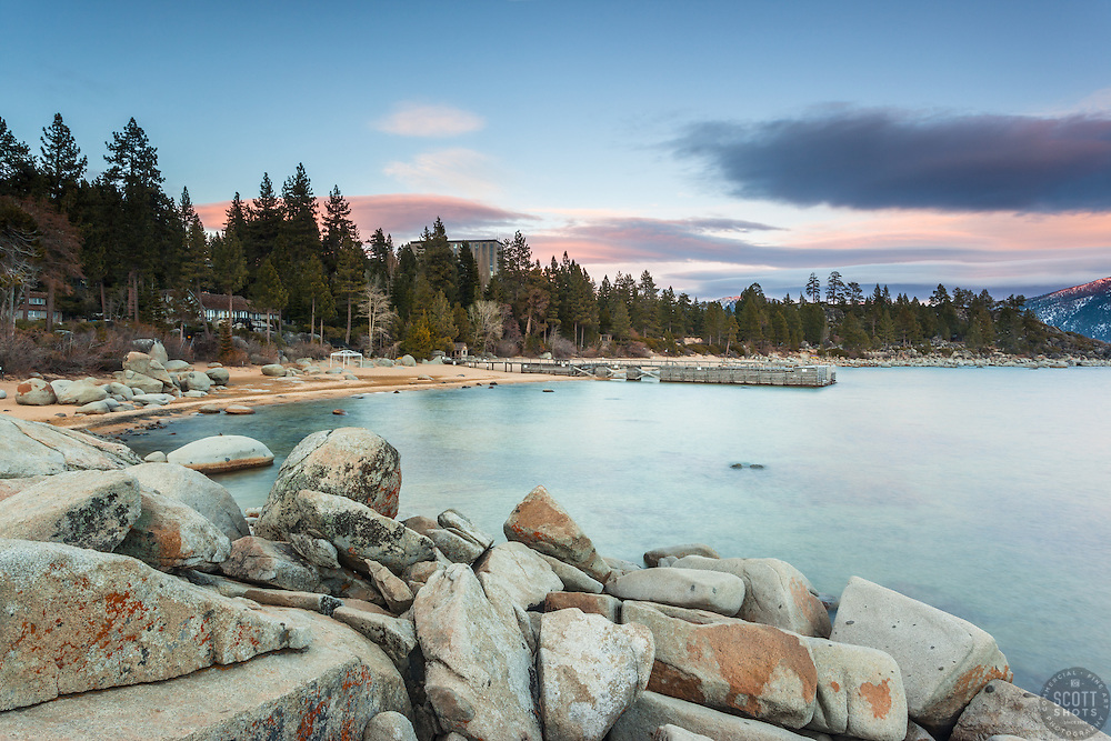 """Tahoe Boulders at Sunset 11"" - Photographs of boulders and Lake Tahoe shot at Speedboat Beach in North Lake Tahoe."
