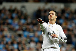 01.03.2015, Estadio Santiago Bernabeu, Madrid, ESP, Primera Division, Real Madrid vs FC Villarreal, 25. Runde, im Bild Cristiano Ronaldo of Real Madrid // during the Spanish Primera Division 25th round match between Real Madrid CF and Villarreal at the Estadio Santiago Bernabeu in Madrid, Spain on 2015/03/01. EXPA Pictures © 2015, PhotoCredit: EXPA/ Alterphotos/ Caro Marin<br /> <br /> *****ATTENTION - OUT of ESP, SUI*****