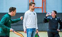 AMSTERDAM  - Rotterdam coach Bobby de Graaf tijdens het starttoernooi zaalhockey in Sporthallen Zuid.    COPYRIGHT KOEN SUYK
