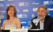 10.SEPT.2010. TORONTO<br /> <br /> MILLA JOVOVICH AND ROBERT DE NIRO ATTEND THE MORE STONE PRESS CONFRENCE AT THE 35TH TORONTO FILM FESTIVAL IN TORONTO.<br /> <br /> BYLINE: EDBIMAGEARCHIVE.COM<br /> <br /> *THIS IMAGE IS STRICTLY FOR UK NEWSPAPERS AND MAGAZINES ONLY*<br /> *FOR WORLD WIDE SALES AND WEB USE PLEASE CONTACT EDBIMAGEARCHIVE - 0208 954 5968*