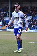 Bury Forward, Ryan Lowe during the Sky Bet League 1 match between Bury and Bradford City at the JD Stadium, Bury, England on 5 March 2016. Photo by Mark Pollitt.