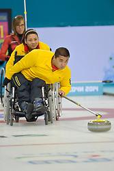 Haito Wang, Guangqin Xu, Wheelchair Curling Semi Finals at the 2014 Sochi Winter Paralympic Games, Russia