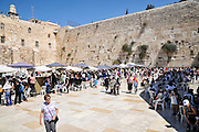 The wailing wall, Old City, Jerusalem, Israel