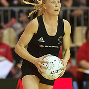 Laura Langman, New Zealand, in action during the New Zealand V England, New World International Netball Series, at the ILT Velodrome, Invercargill, New Zealand. 6th October 2011. Photo Tim Clayton...
