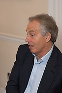 Tony Blair photographed at his offices in London. April 28th 2017.