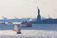 statue of liberty seen from brooklyn New York October 2008