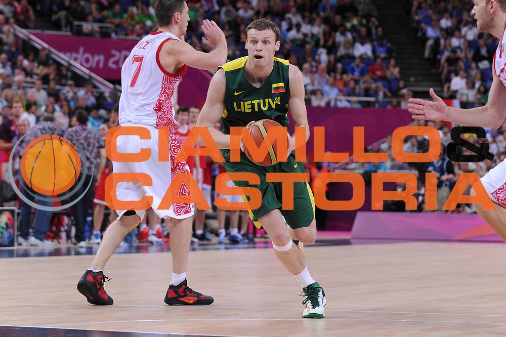 DESCRIZIONE : London Londra Olympic Games Olimpiadi 2012 Men Quarterfinal Russia Lituania Russia Lithuania<br /> GIOCATORE : Martynas Pocius<br /> CATEGORIA :<br /> SQUADRA : Lituania Lithuania<br /> EVENTO : Olympic Games Olimpiadi 2012<br /> GARA : Russia Lituania Russia Lithuania<br /> DATA : 08/08/2012<br /> SPORT : Pallacanestro <br /> AUTORE : Agenzia Ciamillo-Castoria/M.Marchi<br /> Galleria : London Londra Olympic Games Olimpiadi 2012 <br /> Fotonotizia : London Londra Olympic Games Olimpiadi 2012 Men Quarterfinal Russia Lituania Russia Lithuania<br /> Predefinita :