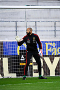KALMAR, SWEDEN - APRIL 18: Aly Keita, goalkeeper, of Ostersunds FK  during warmup ahead of the Allsvenskan match between Kalmar FF and Ostersunds FK at Guldfageln Arena on April 18, 2018 in Kalmar, Sweden. Photo by Jonas Gustafsson/Ombrello ***BETALBILD***