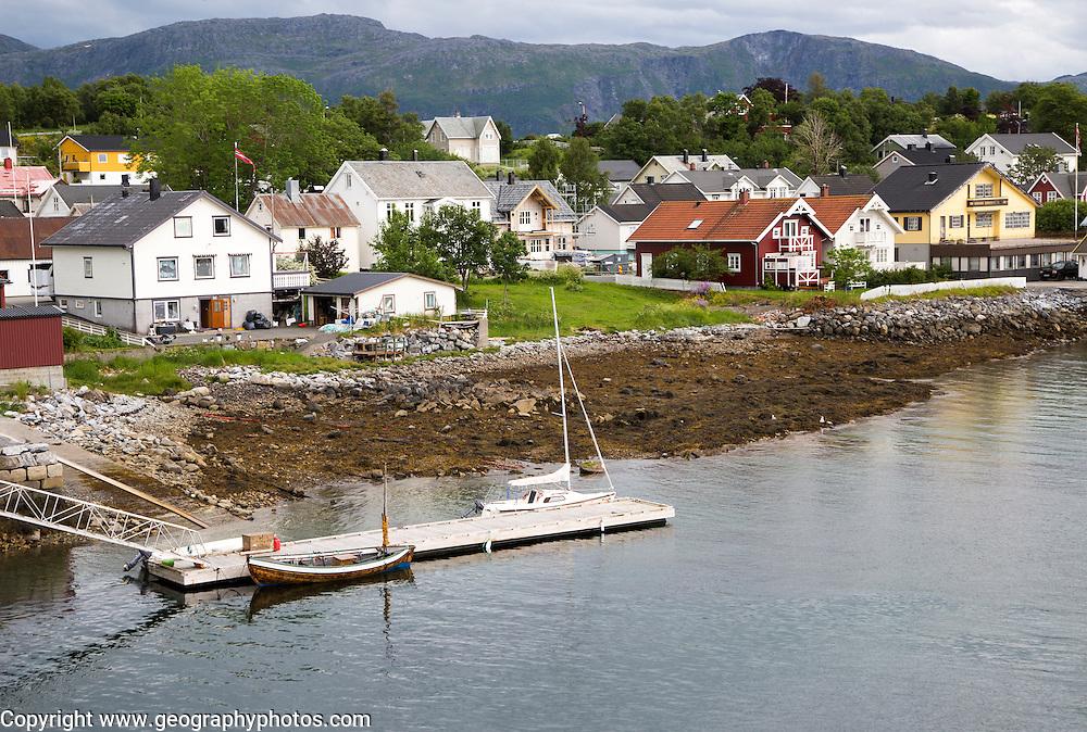 Waterside buildings, Bronnoy,  Bronnoysund, Nordland, Norway