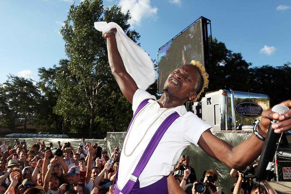 CHICAGO - JULY 18:  Skerrit Bwoy of Major Lazer performs onstage during the 2010 Pitchfork Music Festival at Union Park on July 18, 2010 in Chicago, Illinois.  (Photo by Roger Kisby/Getty Images)