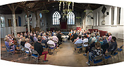 Deal Festival 2017: The Castalian Quartet, featuring Sini Simonen (violin), Daniel Roberts (violin), Charlotte Bonneton (viola) and Christopher Graves (cello). A wonderfully intimate performance in the round, with music by Haydn, Ravel and Schubert, in the beautiful setting of St. Mary's Art Centre, Sandwich. (Multiple file panorama). © Tony Nandi 2017