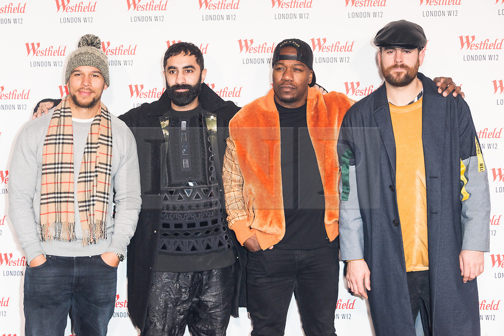 © Licensed to London News Pictures. 30/10/2018. London, UK. RUDIMENTAL attends the Westfield London 10th Anniversary Celebrations. Photo credit: Ray Tang/LNP