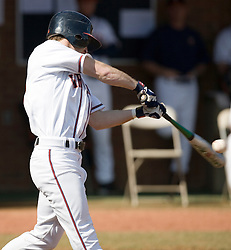 Virginia Cavaliers outfielder Tim Henry (6) connects on a Delaware pitch.  The Virginia Cavaliers Baseball Team defeated the Delaware Blue Hens 10-4  in the second of a three game series at Davenport Field in Charlottesville, VA on March 3, 2007.  Virginia leads the series 2 games to 0.