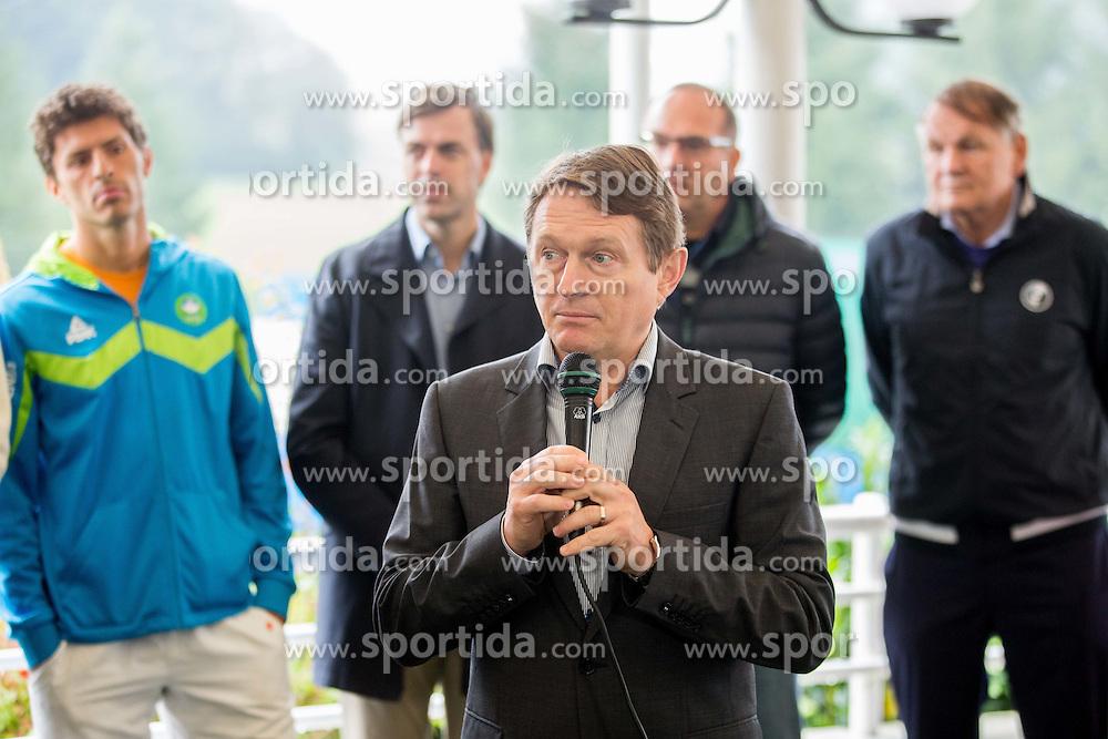 Andrej Kavsek, CEO of Zavarovalnica Tilia at Tennis tournament Tilia Masters 2015, on October 3, 2015 in TK Krka Otocec, Slovenia. Photo by Vid Ponikvar / Sportida