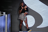 Serena Williams greets the audience after presenting the  S by Serena Williams Runway Show Sponsored By Klarna USA on September 10, 2019 in New York City
