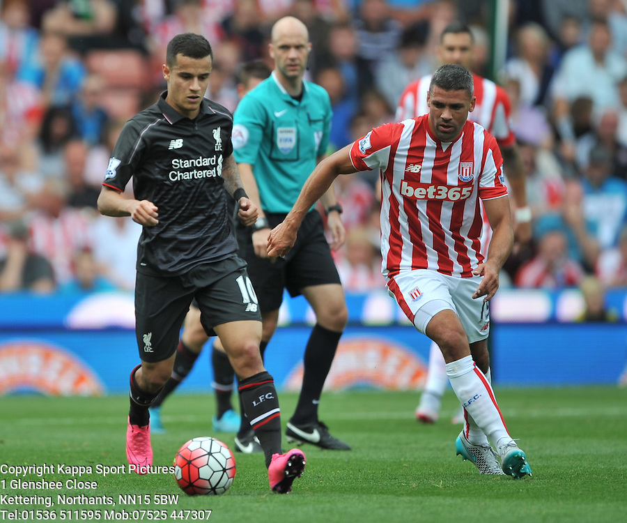 PHILLIPE COUTINHO LIVERPOOL, Liverpool FC, Stoke City v Liverpool, Premiership, Britannia Stadium Sunday 9th August 2015Stoke City v Liverpool, Premiership, Britannia Stadium Sunday 9th August 2015