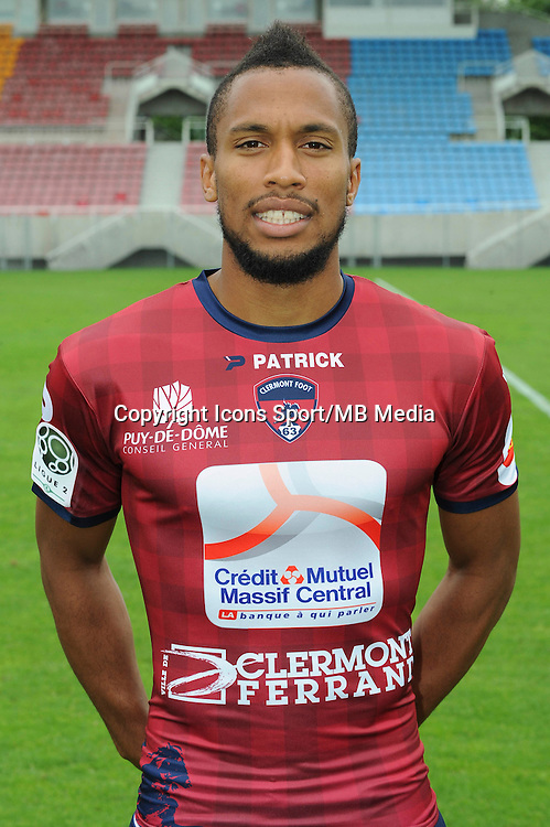 Harry NOVILLO - 30.07.2014 - Portraits officiels Clermont - Ligue 2<br /> Photo : Jean Paul Thomas / Icon Sport