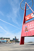 Angel Baseball Big A Marquee Landmark Sign at  Right Field Side Parking Lot