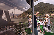 ITALY, Franciacorta area, heanding with the ferry to Montisola in Iseo Lake, one of the largerst lake island in Europe