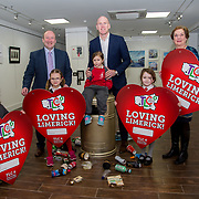 25.01.2018.         <br /> The hugely successful Team Limerick Clean-up (TLC) is set to take place for the fourth consecutive year this Good Friday 30th March 2018. <br /> <br /> Paul O&rsquo;Connell was joined by pupils, Hannah Noonan, 6, Amy Lane, 5, Ella Byrne, 5  and Sadhbh Galvin, 6 from Scoil Iosaf Girls' NS with Dr. Pat Daly, Limerick City and County Council and Vicki Nash, Red Door Gallery at The Red Door Gallery, Newcastle West to launch the Team Limerick Clean-up4 and &lsquo;Loving Limerick&rsquo; competition.<br /> <br /> Registration is now open on www.teamlimerickcleanup.ie. To celebrate TLC4, Primary Schools from across Limerick have been invited to take part in an exciting Valentines competition. Paul O&rsquo;Connell was joined today by the Mayor of Limerick, Stephen Keary and pupils from Scoil Iosaf Girls' NS at The Red Door Gallery, Newcastle West to launch the Team Limerick Clean-up4 and &lsquo;Loving Limerick&rsquo; competition. Picture: Alan Place